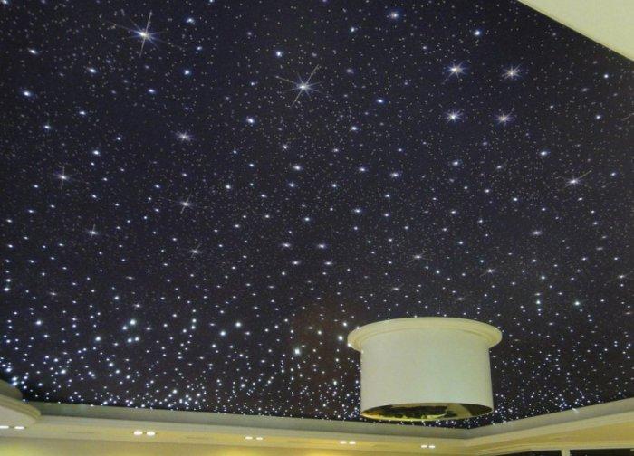 Потолок в виде звездного неба своими руками 44
