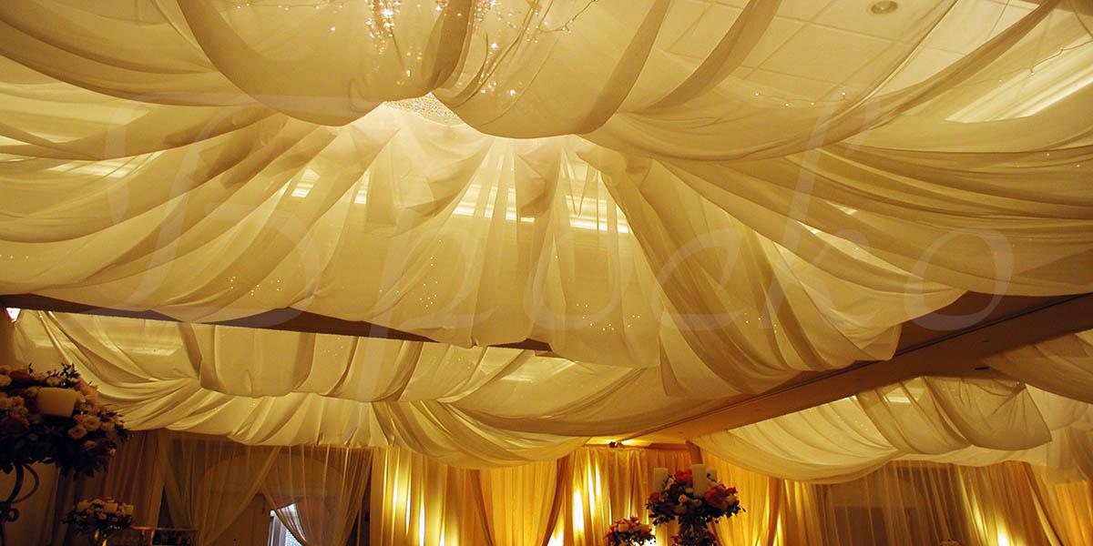 Драпировка потолка тканью (30 фото оригинальные идеи оформления)
