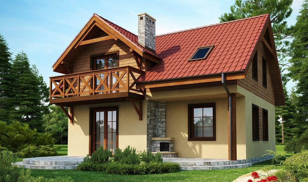 проекты небольших домов с балконом фото своеобразная способность летать