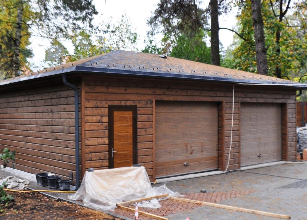 Как построить гараж на 2 машины своими руками 142