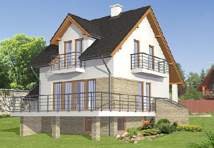 Проекты домов с цокольным этажом и мансардой двухэтажный особняк с цоколем небольшие мансардные постройки