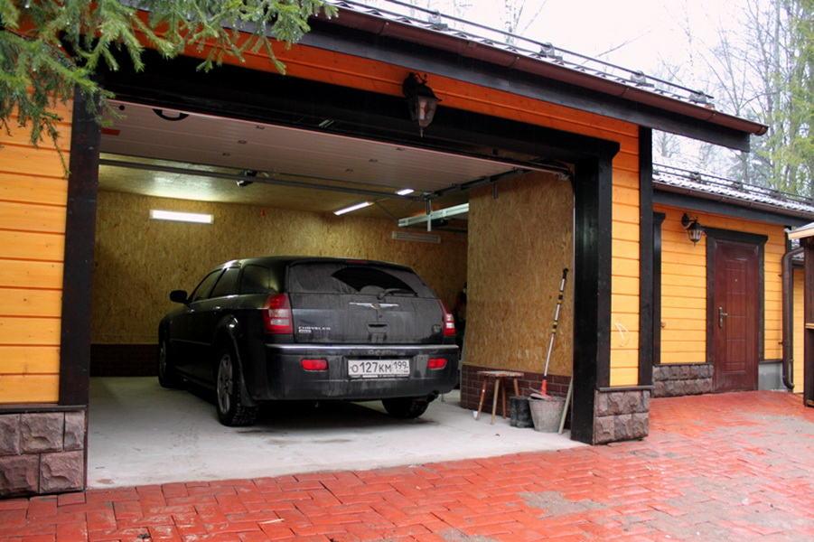 Узкий гараж на 2 машины проект