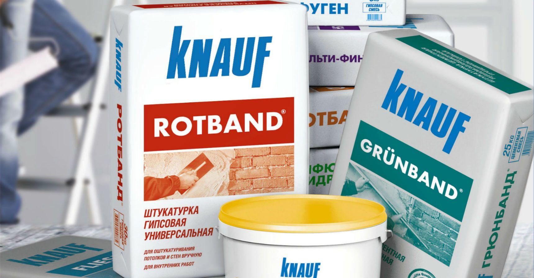 Штукатурка knauf rotband: гипсовая штукатурная смесь в упаковках по
