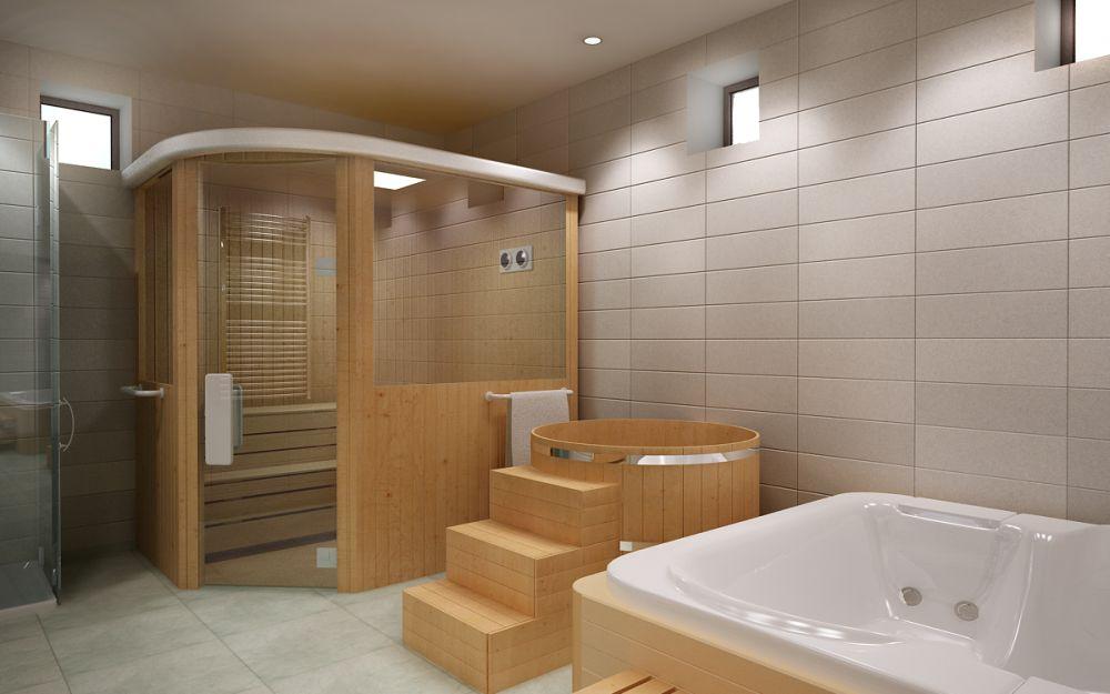 сауну в ванной