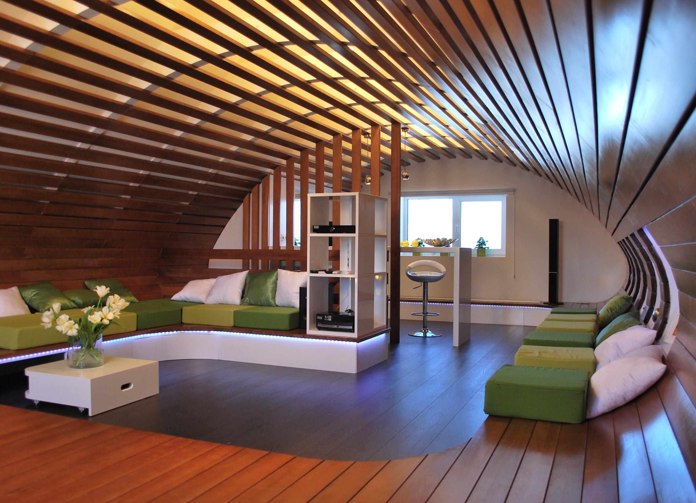Деревянный потолок своими руками 85