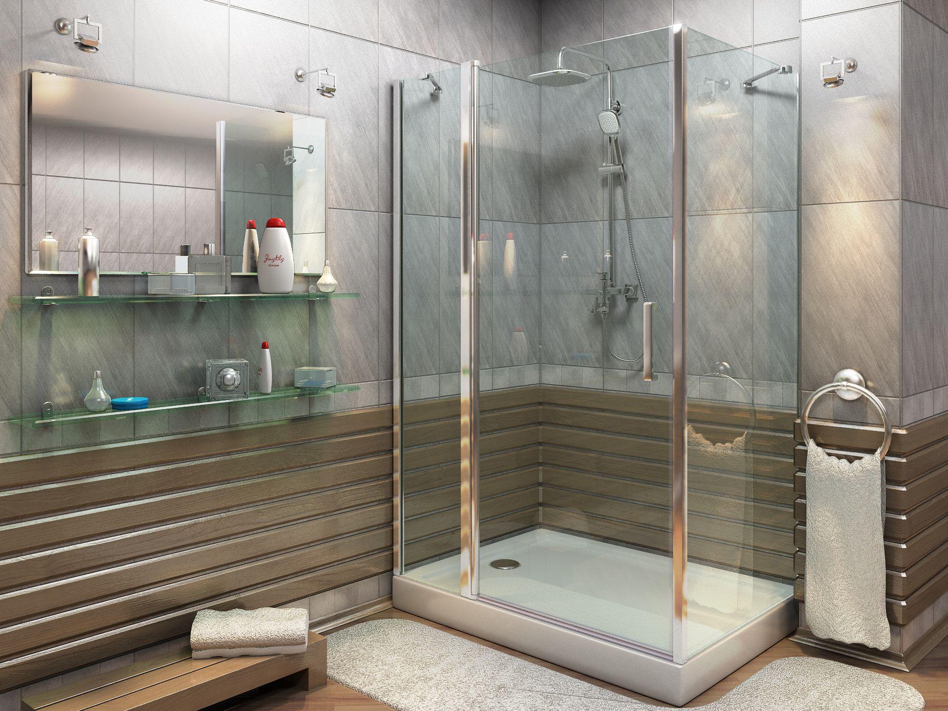 Как сделать душевой уголок в ванной комнате