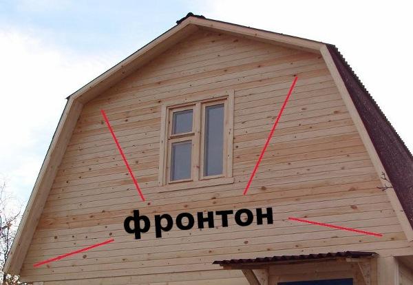 Как сделать козырёк фронтона крыши 445