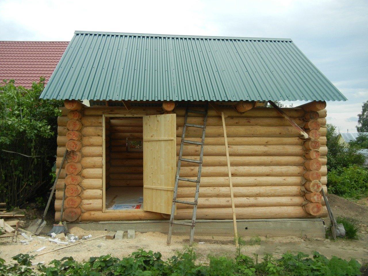 Построить баню на даче своими руками видео фото 382