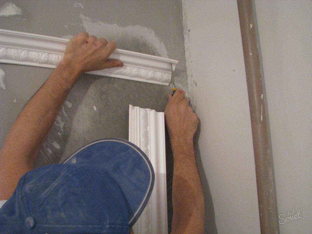Как сделать уголок на потолке 873