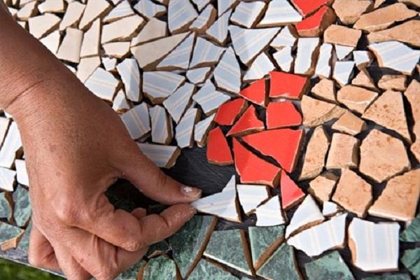 Изготовление мозаичной плитки своими руками 36