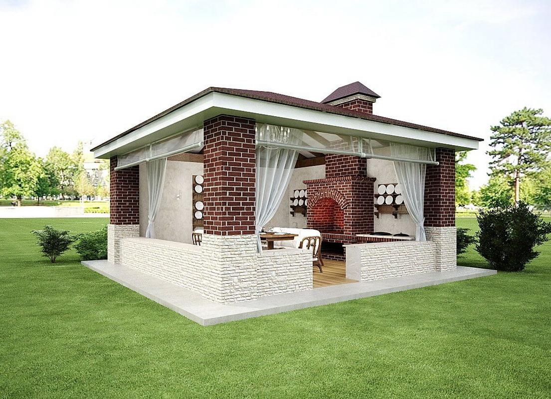 Летняя кухня своими руками очень простая конструкция 45