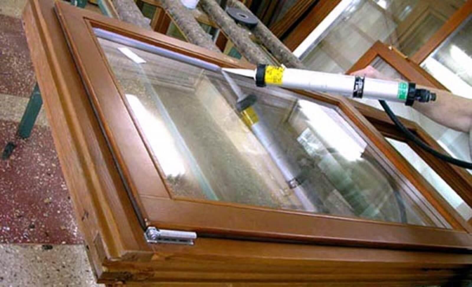 Замена стеклопакета в деревянных окнах своими руками 33