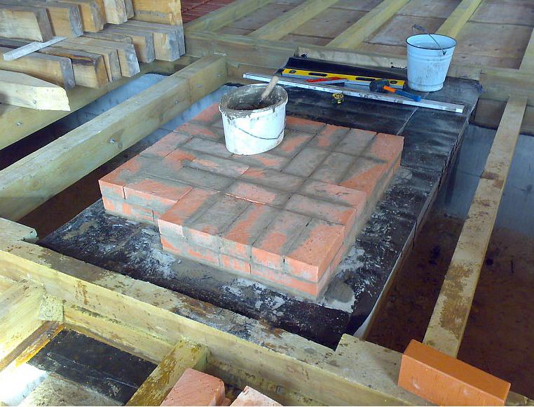 Как сделать фундамент на печь 340