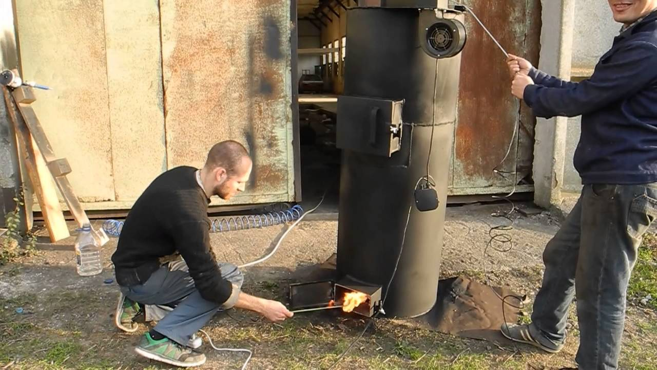 Котёл для отопления на дровах своими руками чертежи