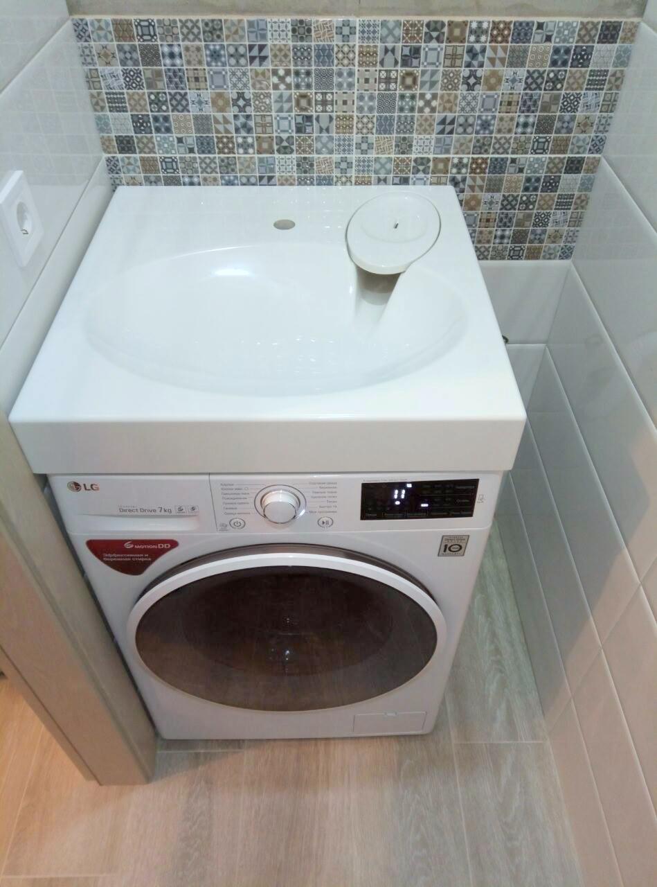 Раковина над стиральной машинкой своими руками 40
