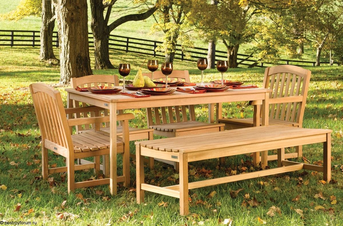 Деревянная мебель из бревна