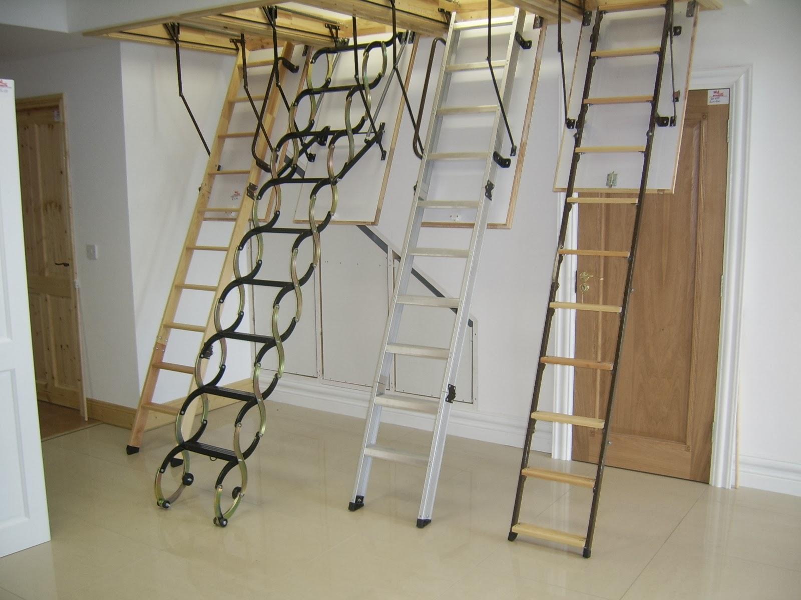 Металлическая лестница на чердак своими руками