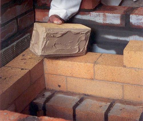 Огнеупорная смесь для печей: кладочная, шамотная смесь для кладки каминов, термостойкая, жаростойкая, состав
