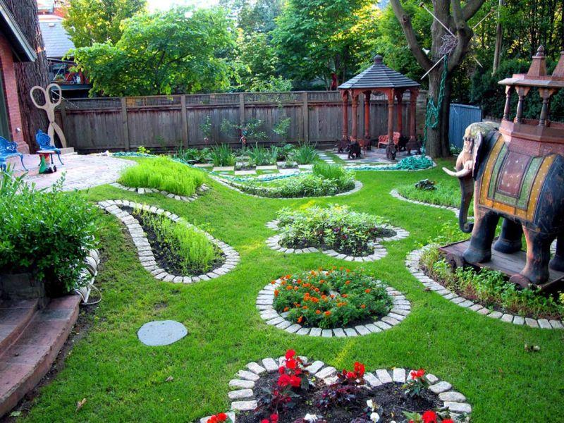 Садовый ландшафт своими руками фото на 6 сотках 69