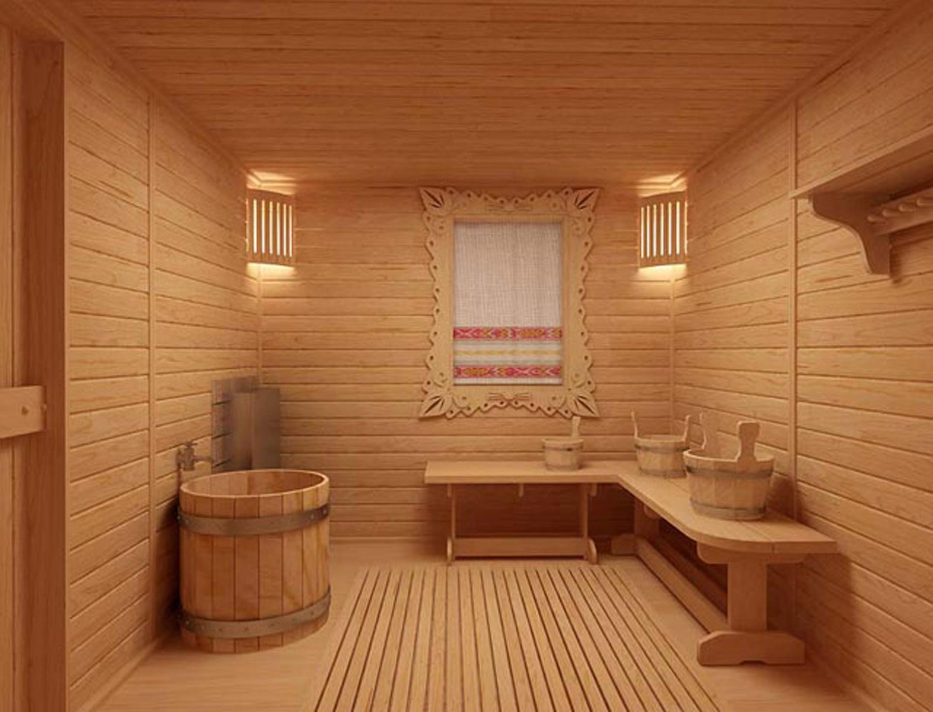 Отделка бани внутри (49 фото создаем уютную зону релакса) 96