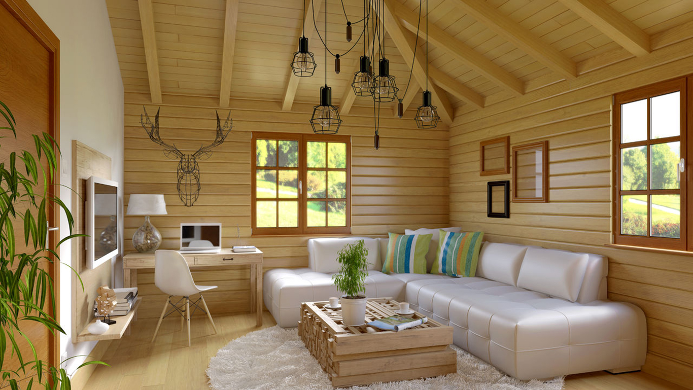 дизайн белой отделка стен деревянного дома внутри фото совсем недавно