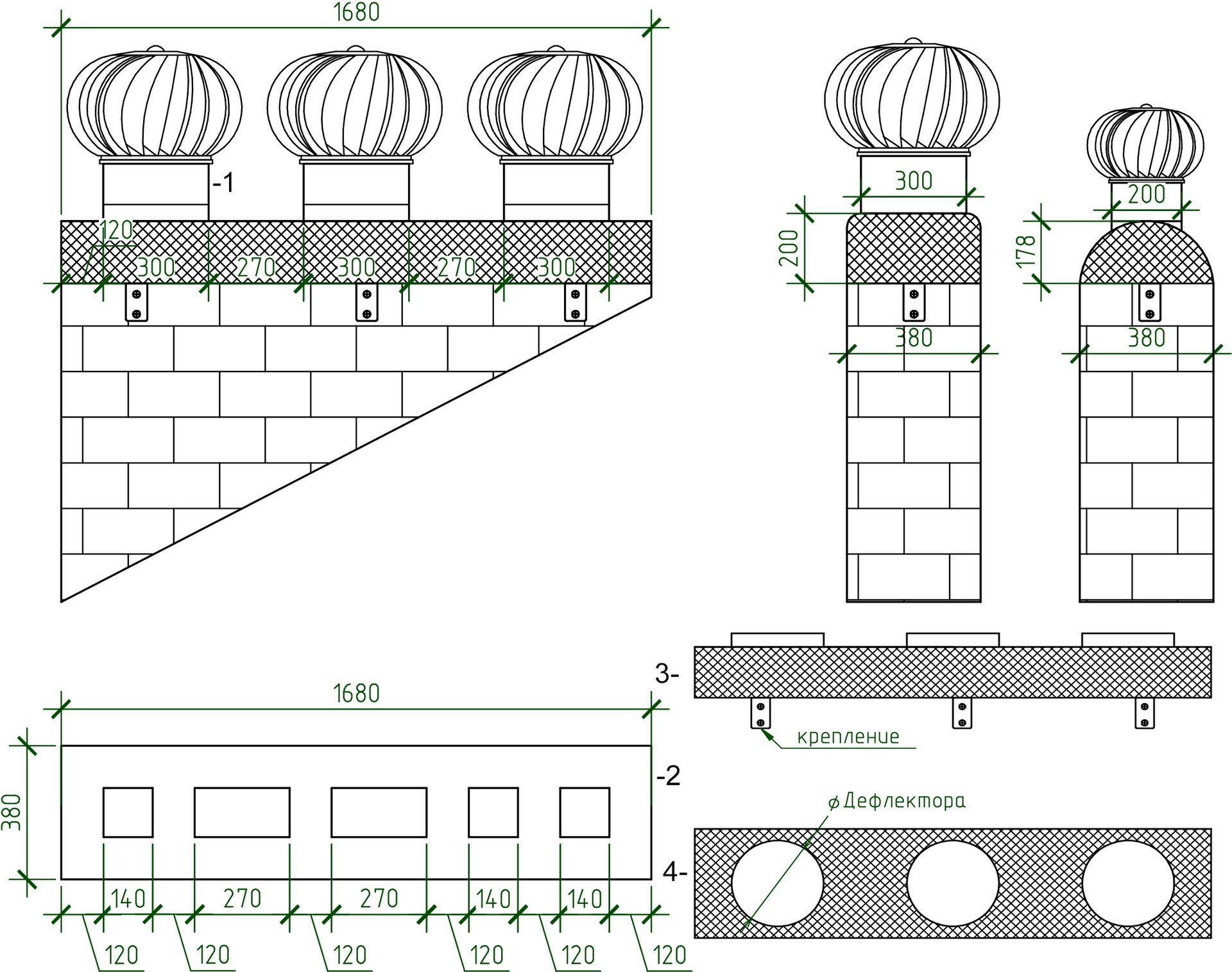 Ротационный дефлектор для вентиляции: чертежи и схема 84