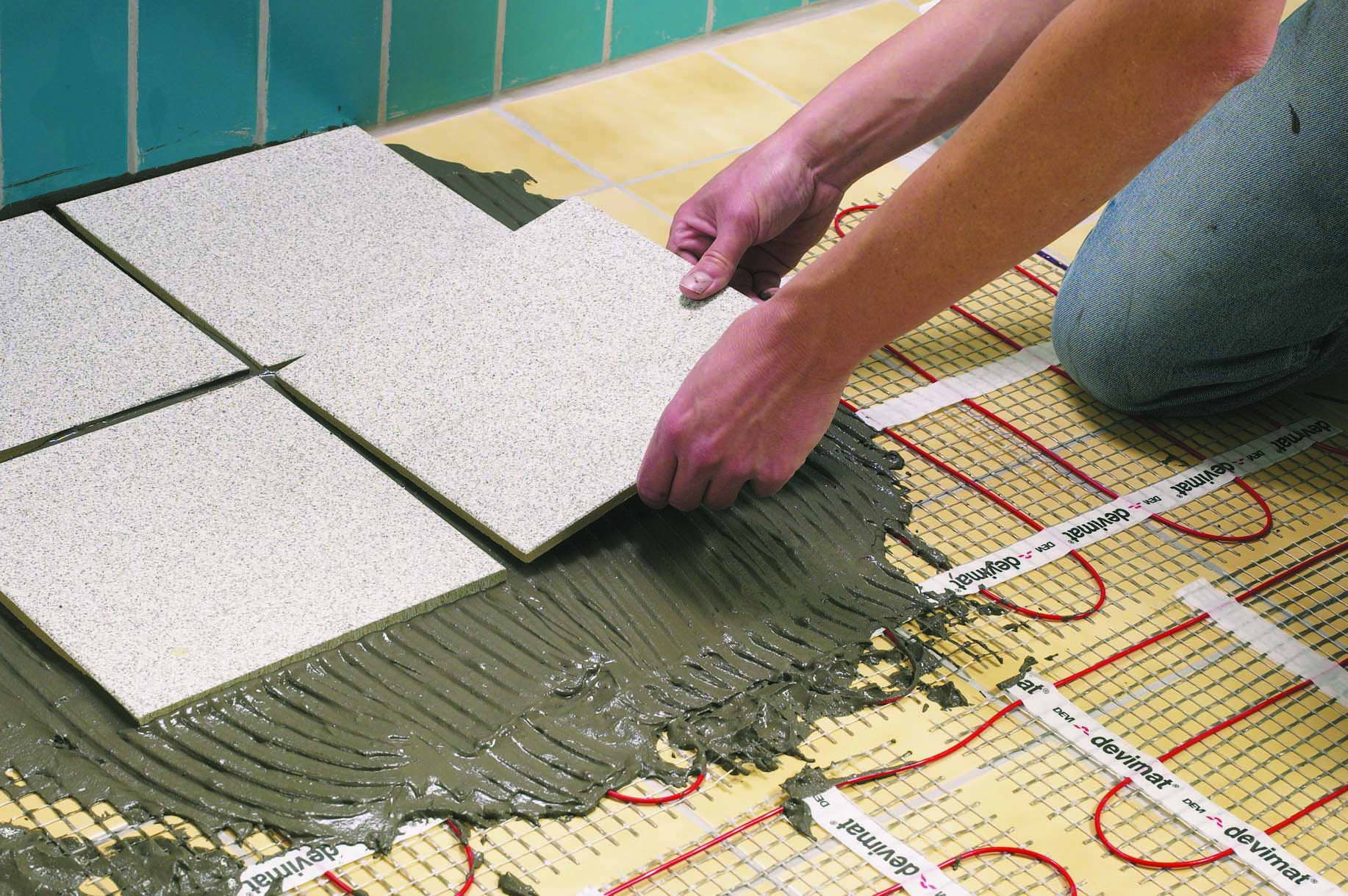 Как сделать электрические теплые полы под плитку своими руками 486
