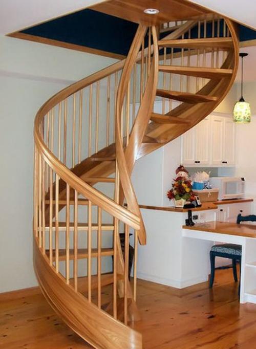 Покраска деревянной лестницы своими руками