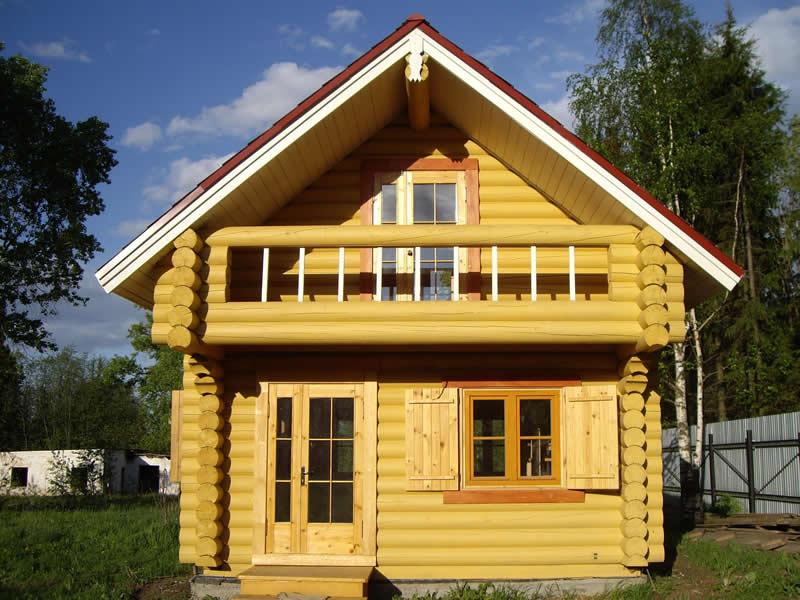 a08cd8ed770c3 Дачные дома из бруса (62 фото): как построить садовый брусовой ...
