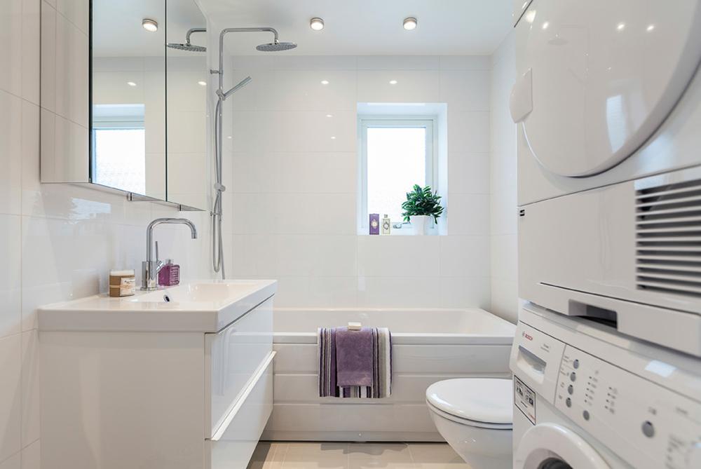 Дизайн белой ванной комнаты (20 фото)