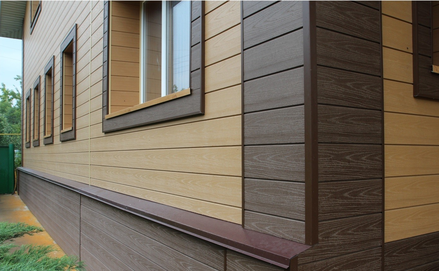 Отделка деревянного дома фасад фото