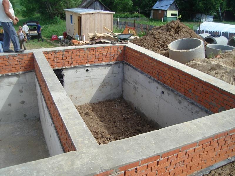 Фундамент дома своими руками из кирпича