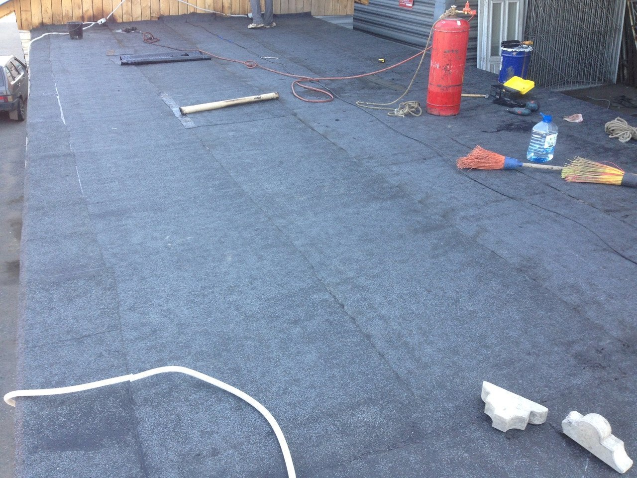 Локальный ремонт крыши гаража своими руками 91