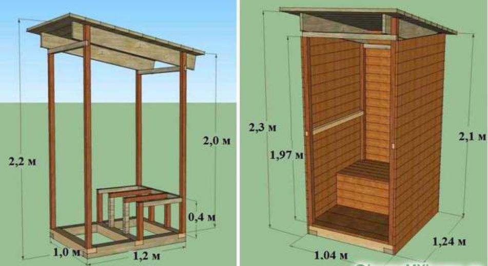 Построить дачный туалет своими руками проекты фото 67