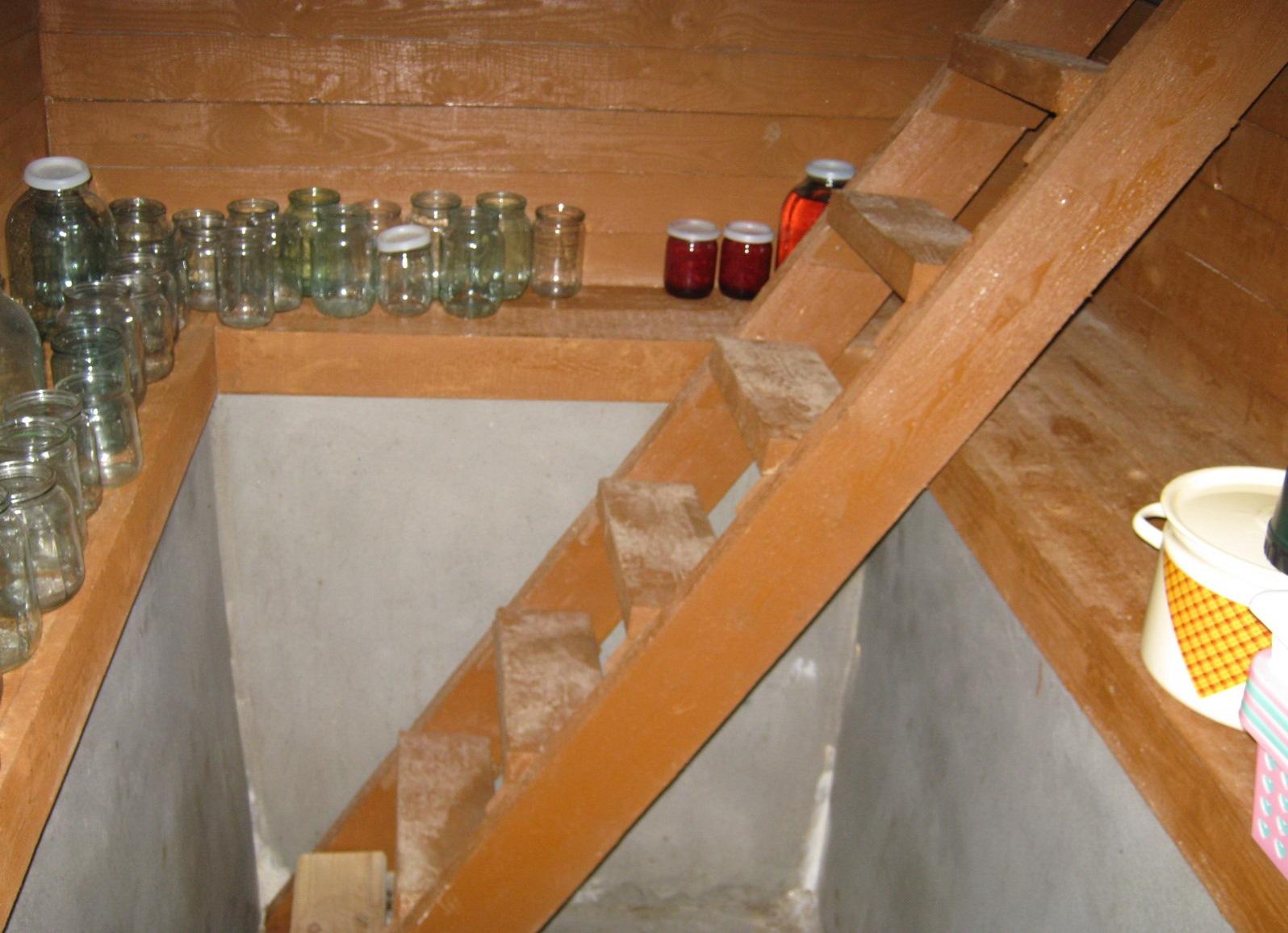 Лестница в погреб своими руками из дерева фото 796