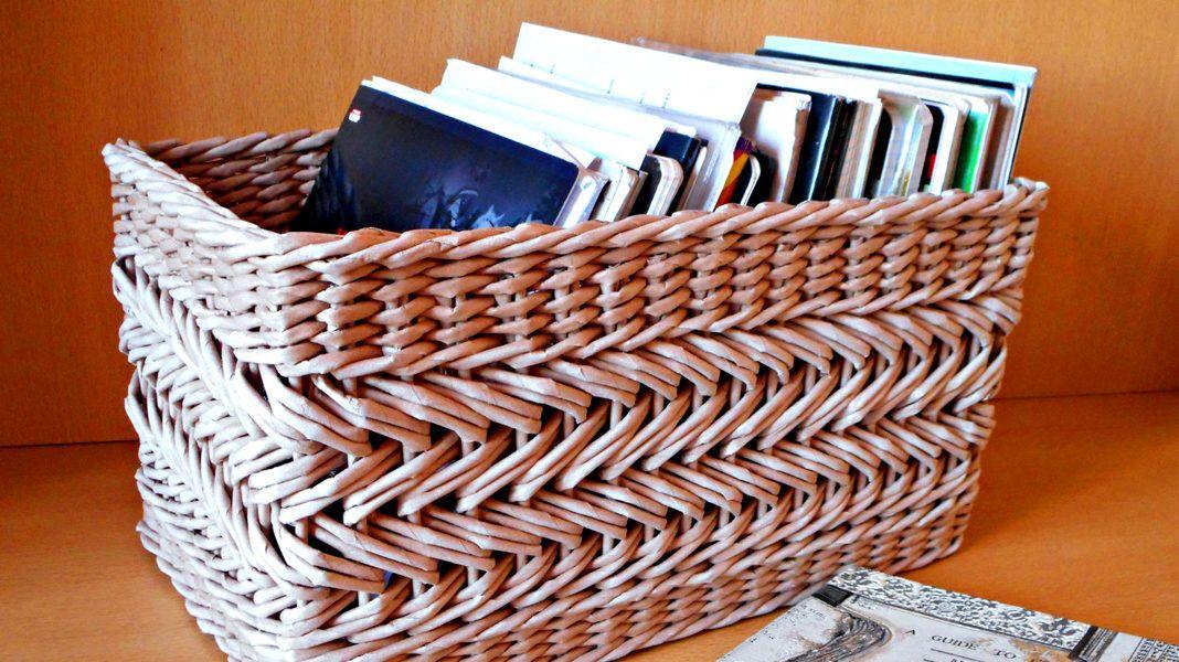 Плетение из газет своими руками мастер класс 621