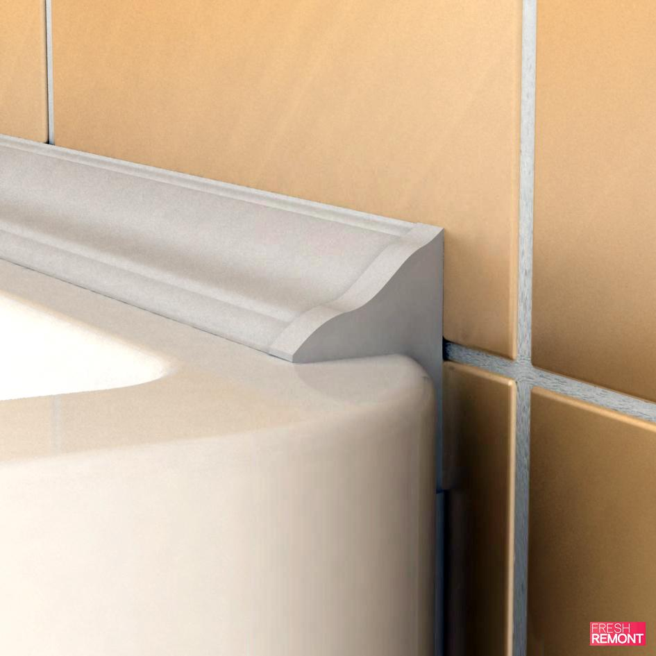 How to seal the gap between the bathroom and a large wall