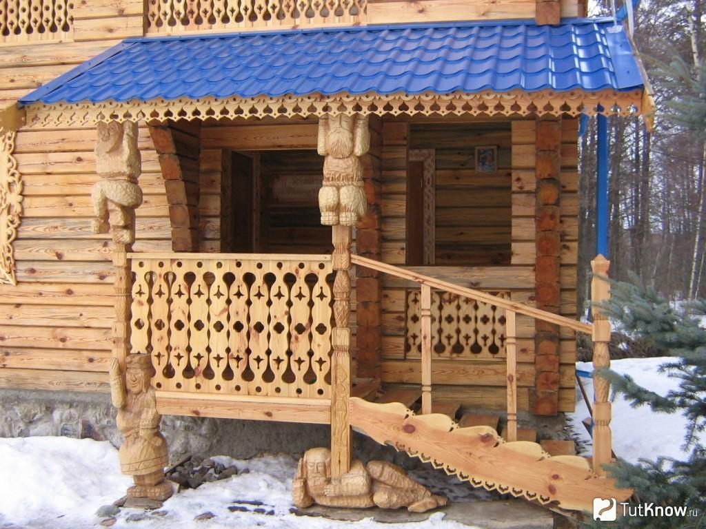 Деревянное резное крыльцо к дому своими руками проекты фото