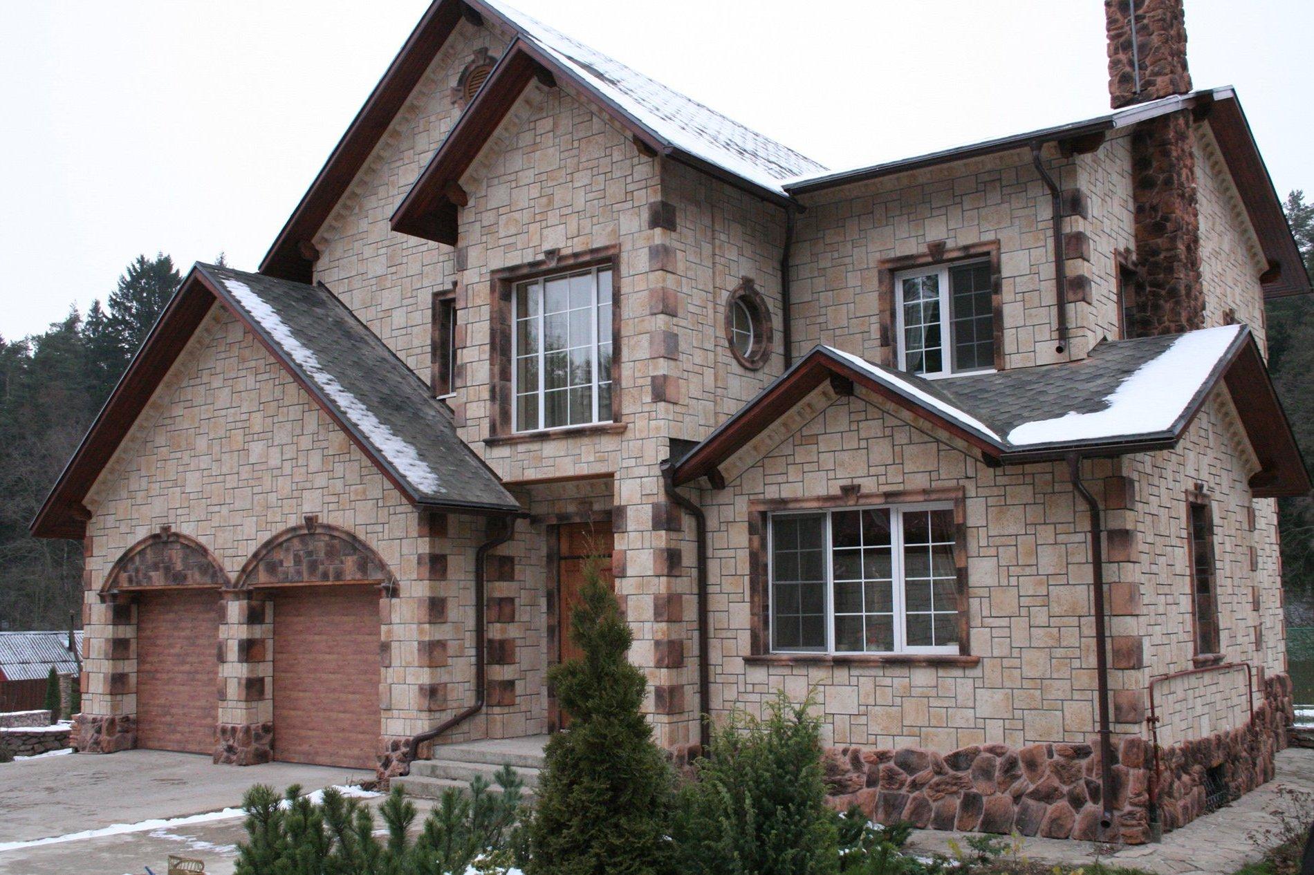 Облицовка домов камнем картинки