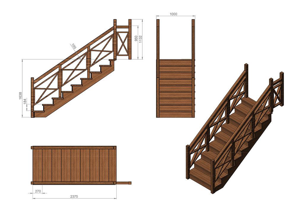 Деревянные лестницы в Челябинске — Лестницы Марш