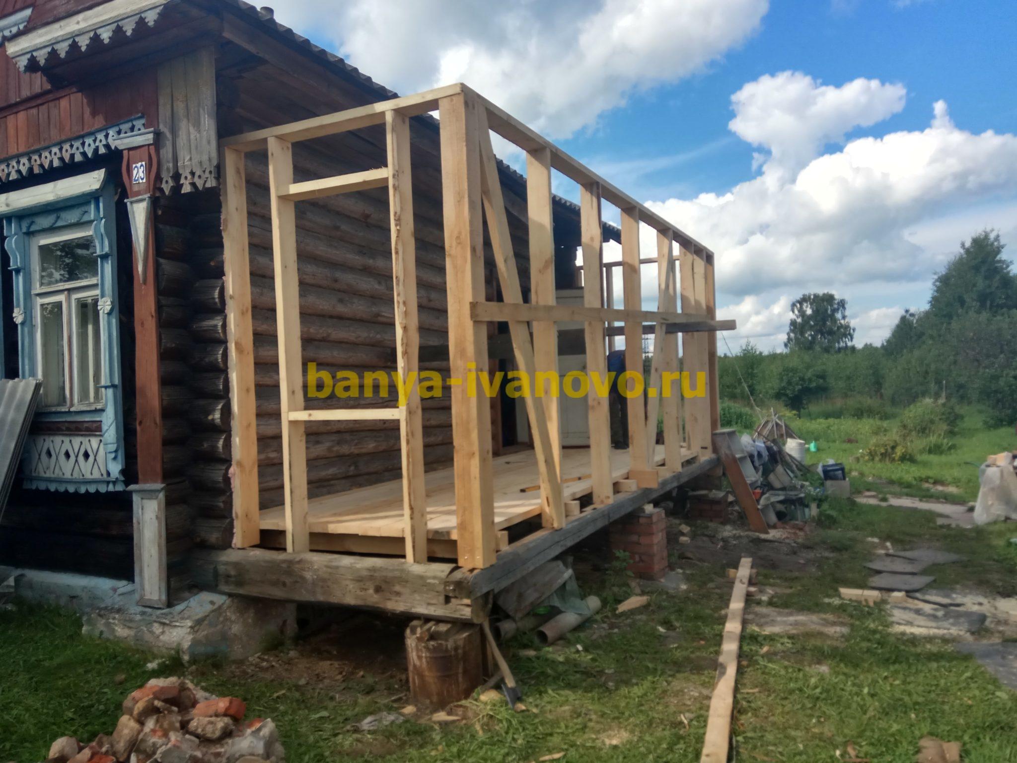 Деревянная пристройка к деревянному дому своими руками 98