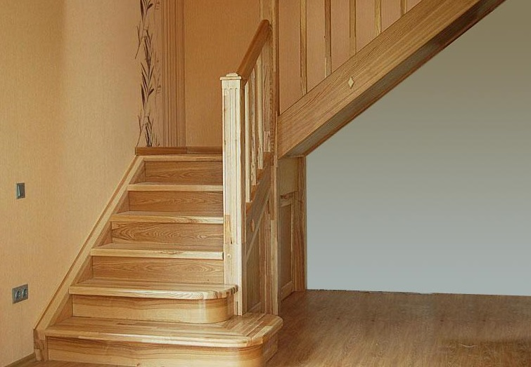 Ступени из массива дерева - АБС-техно: лестницы, двери и