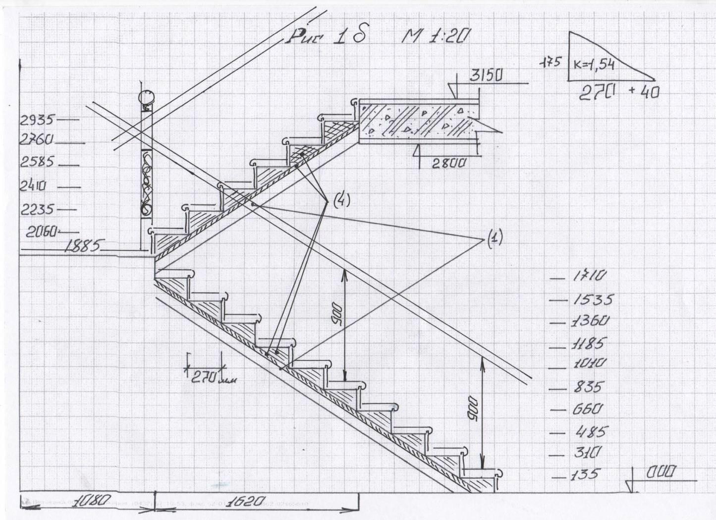 Забежная лестница своими руками - от расчетов до монтажа 49
