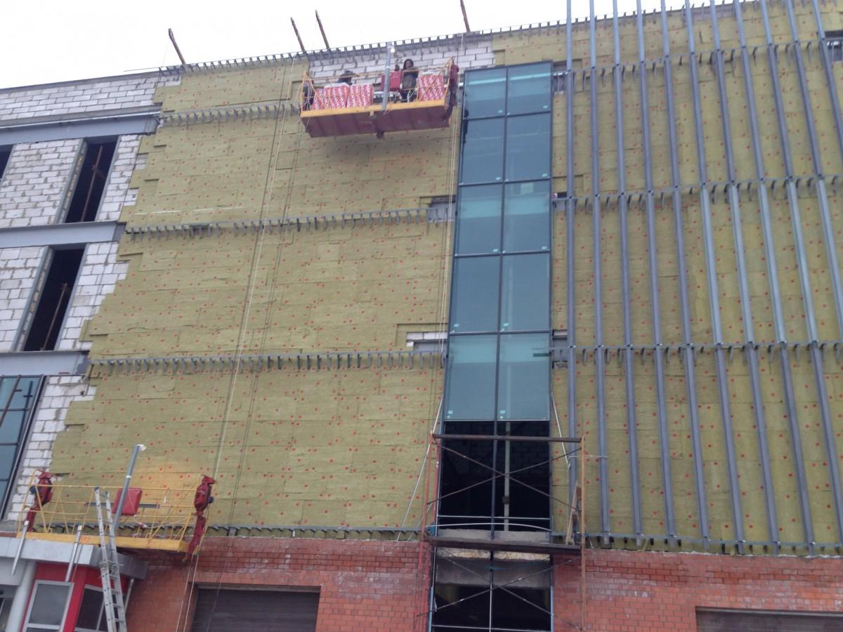 Отделка фасада из силикатного кирпича