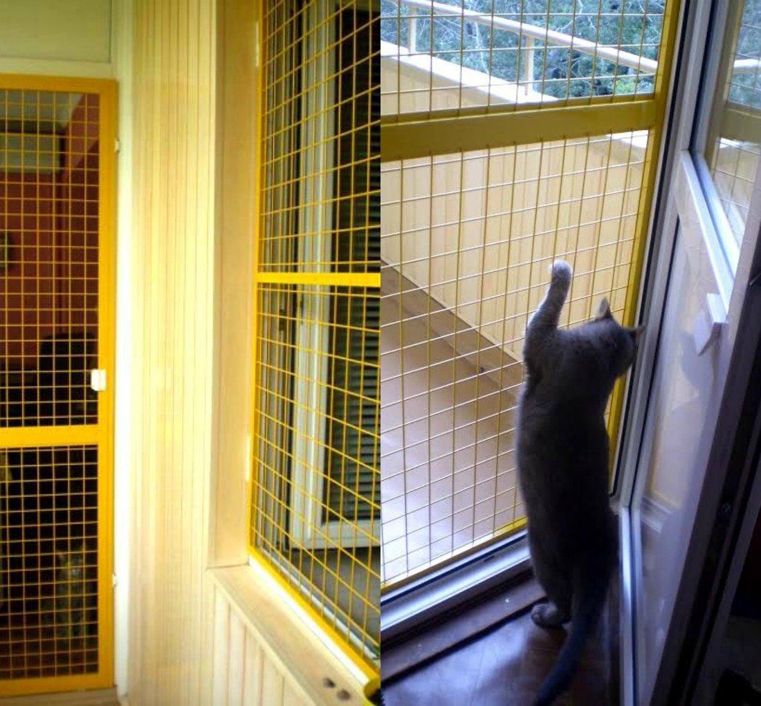 Сетка на окно для кошек своими руками 98