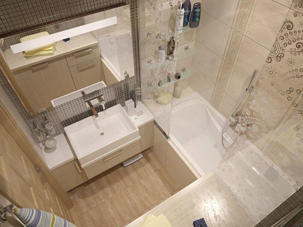 Интерьер маленькой ванной комнаты - 100 фото идей дизайна