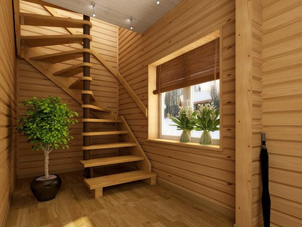 Сделать лестницу на второй этаж дачного домика своими руками 62