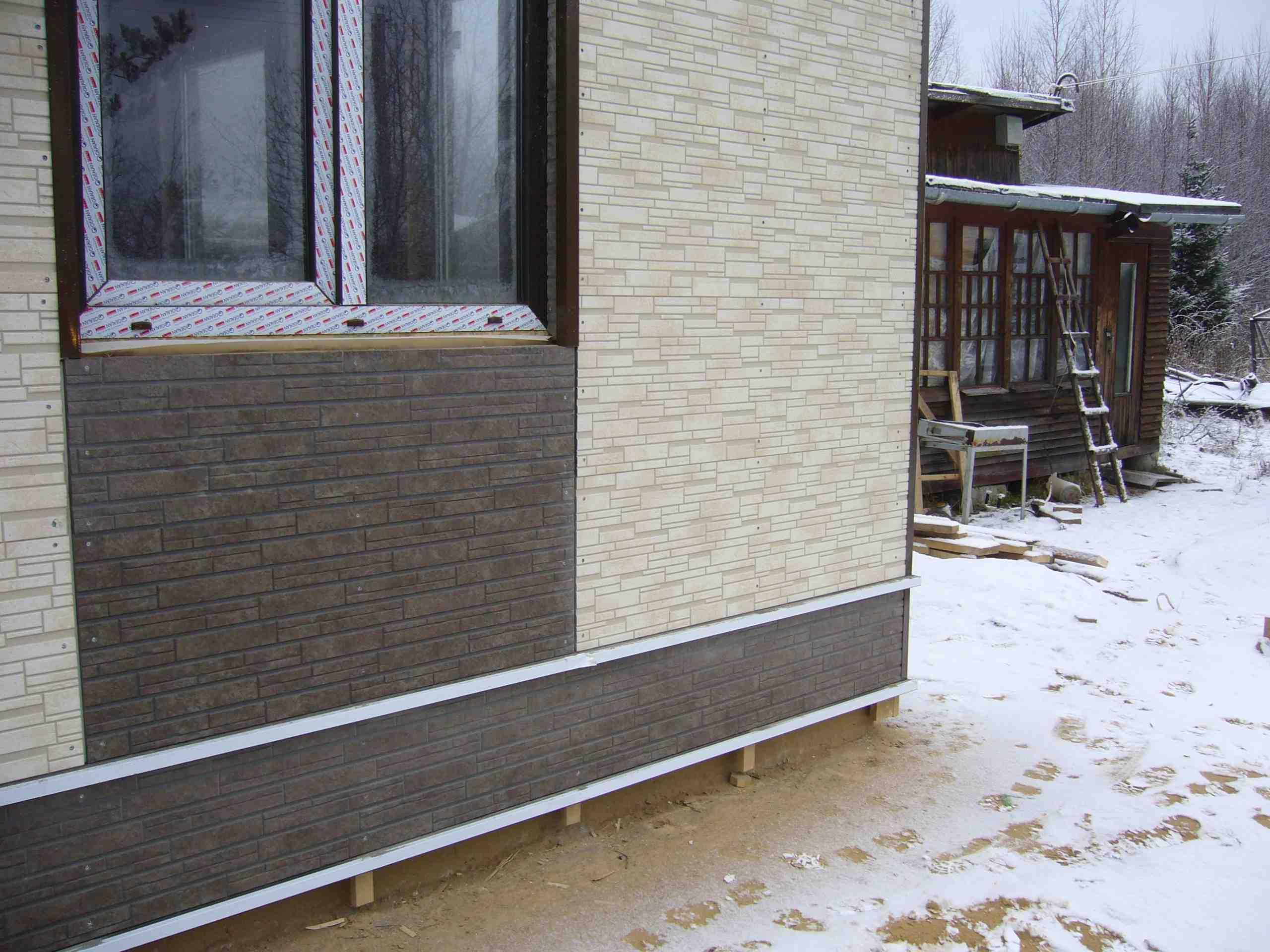 Штукатурка фасада с сеткой цена за м2