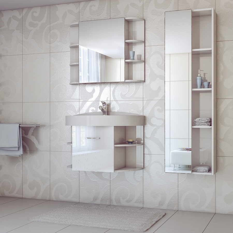 Зеркало в ванную с полками своими руками фото 420