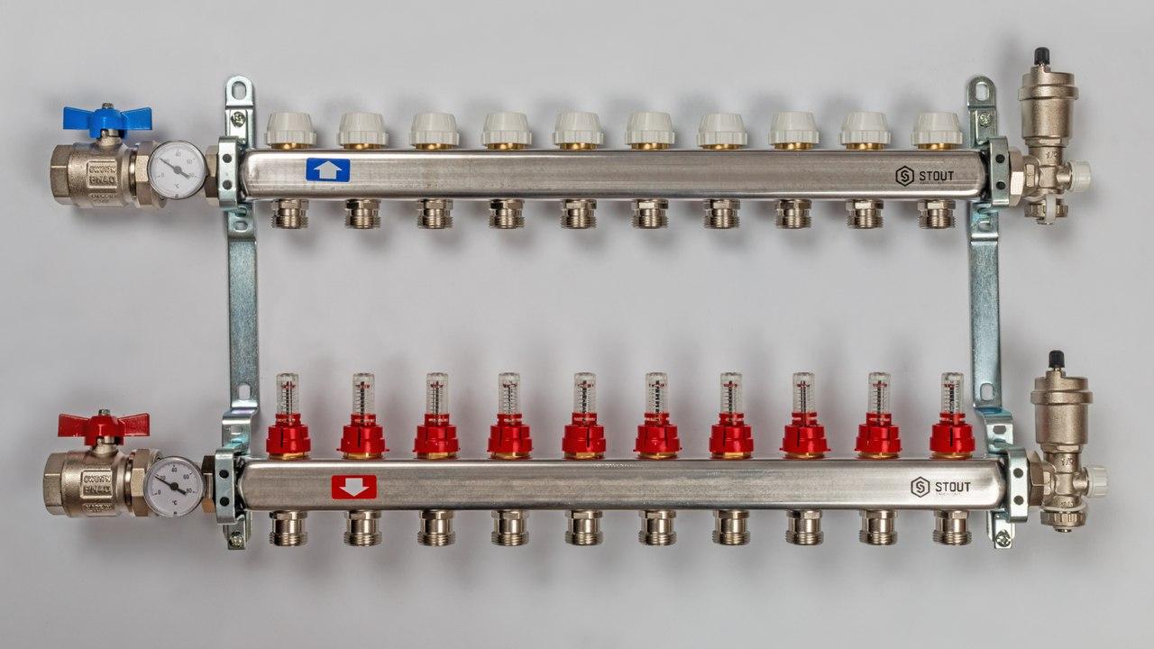 Коллектор для отопления - виды, принцип действия, правила монтажа и подключения